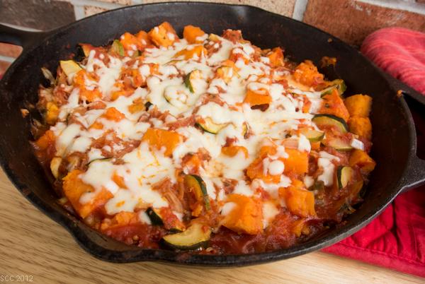 Sweet Potato & Squash Marinara Skillet